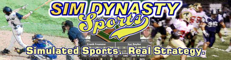 Sim Dynasty Sports: Simulated sports. Real strategy.